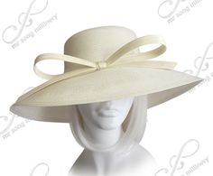 Royal Ascot Hat With Tiffany Brim With Knotted Loop Bow - 3 Colors – Mr. Song Millinery