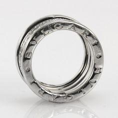 Bvlgari Diamond 18k White Gold B.Zero 1 Fashion Ring