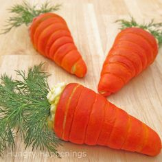 Carrot Crescents filled with egg salad... cute idea for Easter brunch