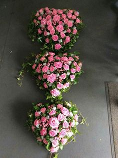 3 heart funeral tribute Funeral Flowers, Wedding Flowers, Wedding Dresses, Funeral Tributes, Memorial Flowers, Sympathy Flowers, Flower Spray, Flower Power, Heart Shapes