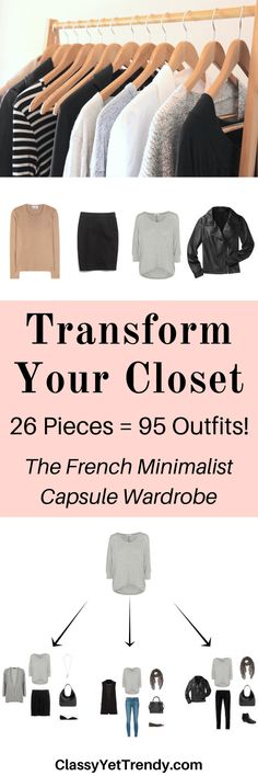 The French Minimalist Capsule Wardrobe E-Book: Fall 2016 Collection - Classy Yet Trendy - Transform Your Closet with the French Minimalist Capsule Wardrobe You are in the right place about m - Minimalist Closet, Minimalist Fashion, Minimalist Living, Minimalist Clothing, Minimalist Beauty, French Minimalist Wardrobe, Minimalist Makeup, Minimalist Style, Moda Fashion
