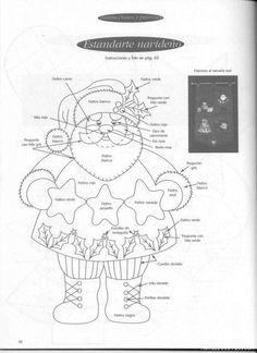 Decoracion Navidad. Patron Santa Claus. Ideas para Decoracion. Aqui te mostramos este patron con el que podemos hacer con nuestras propias manos una obra de arte para decorar en navidad. Solo neces...