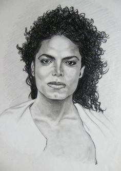 Michael Jackson pencil drawing