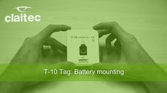 In this video, we can see how the battery of Tag T-10 is mounted.
