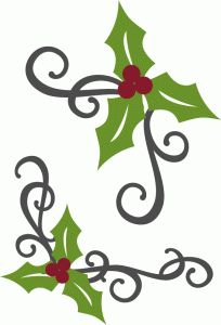 Silhouette Design Store - View Design #69136: holly flourish corners