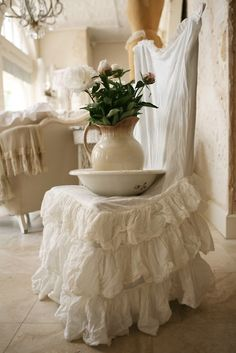 shabby chair cover