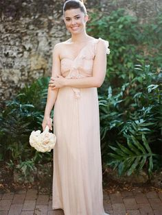 Honest Chiffon One-Shouder Backless Bridesmaid Dress Charming Floor-Length Bridesmaid Dress Backless Bridesmaid Dress, Bridesmaid Dresses 2018, Homecoming Dresses, Wedding Dresses, Bridesmaids, Bridesmaid Outfit, Bridesmaid Gifts, Affordable Prom Dresses, Beautiful Prom Dresses