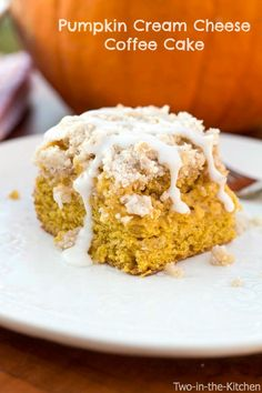 Pumpkin Cream Cheese Coffee Cake  Two in the Kitchen v