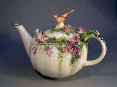 The Heavens Bird - porcelain teapot - Made to order in Russia.