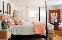 the Polished Pebble - I love this room; even with white walls, it feels warm and inviting.