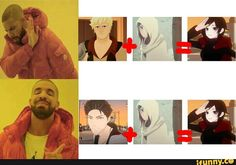 RWBY.  --i know Barbara said that Taiyang is for sure Ruby's dad but i still can't see it xc. I still firmly believe that Qrow is Ruby's father.