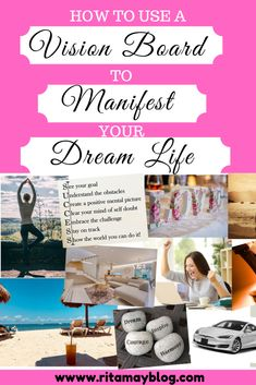 A Vision Board is an extremely powerful visual representation of your written Life Vision. You attach strong emotions to your desires, dream goals by finding and sticking those pretty images on your board. Emotions are key to manifesting your dream life. Clear Your Mind, Life Video, Pretty Images, Love Tips, To Manifest, Self Development, Personal Development, Life Purpose, Spiritual Awakening