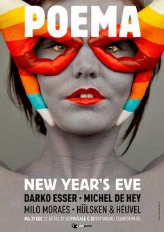 Diseño de posters para un club nocturno