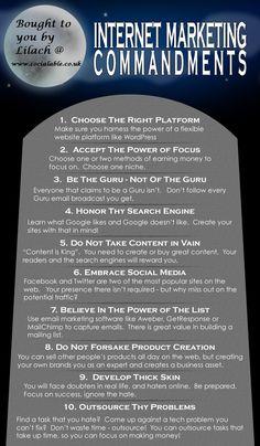 Internet Marketing Commandments