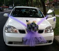 If you are looking for wedding car decoration quotes you've come to the right place. We have 30 images about […] Halloween Car Decorations, Wedding Car Decorations, Wedding Flower Arrangements, Wedding Flowers, Grey Purple Wedding, Bear Wedding, Wedding Cars, Dog Car Accessories, Just Married Car