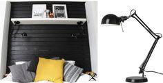 Arbetslampa hängd upp och ned = sänglampa Bildkälla: Kun Itse Tekee