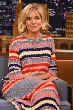 WHO: Sienna Miller WHERE: The Tonight Show Starring Jimmy Fallon, New York City WHEN: January 13, 2015