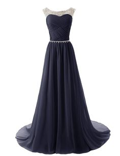 Dressystar Beaded Straps Navy Bridesmaid Dresses #bridesmaid #dress #wedding #bridesmaids #longdress #navy #blue #navydress