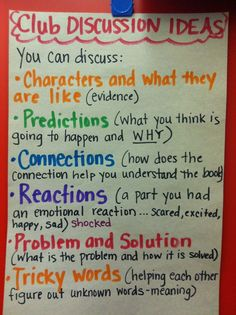 New book club discussion ideas anchor charts 62 Ideas Kids Book Club, Book Club Books, Book Clubs, Reading Club, Teaching Reading, Guided Reading, Reading Response, Learning, Teaching Ideas