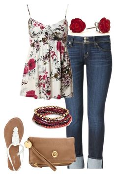 """""""Untitled #369"""" by ohsnapitsalycia ❤ liked on Polyvore featuring Hudson Jeans, Kismet, Accessorize, Tommy Hilfiger and Wet Seal"""