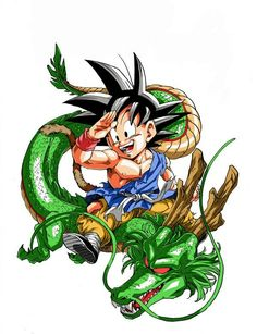 Goku GT and Shenlong