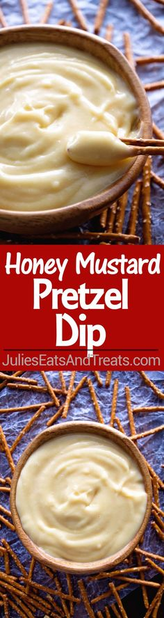 Honey Mustard Pretzel Dip Recipe ~ Quick and Easy Dip for the Perfect Appetizer! Sweet and Tangy Honey Mustard Dip Perfect for Dipping with Pretzels! via @julieseats