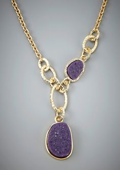 R.J. GRAZIANO Mixed Link and Stone Necklace