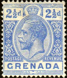 Grenada 1921 King George V Head SG 117a Fine Mint SG 117a Scott 97 Other British Commonwealth stamps here