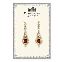 Chapter 4: Hermione's earrings- Downton Abbey® Ruby Oval Gold Drop Earrings