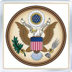 $3.29 - Acrylic Fridge Magnet: United States. Coat of Arms of United States