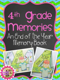 """Let your students document their special memories from 4th Grade with this end of the year """"craftivity"""". The memory book is shaped like a 4!!!"""
