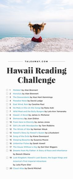 Hawaii Reading Challenge, Books Set In Hawaii - For more books visit www.taleway.com to find books set around the world. Ideas for those who like to travel, both in life and in fiction. reading challenge, hawaii reading challenge, book challenge, books you must read, books from around the world, world books, books and travel, travel reading list, reading list, books around the world, books to read, hawaii books, hawaii books novels, hawaii travel