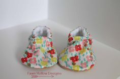 Floral Print Baby Girl Shoe by FawnHollowDesigns on Etsy