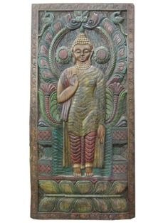 Antique Buddha Wall Decor Panels by baydeals