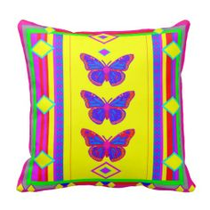 Yellow Southwetern Butterfly.Pillow by Sharles