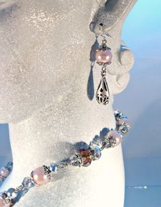 Queens Crown Necklace and Earring Set by blingbychristine on Etsy, $32.00
