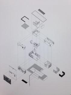 diagramme - perspective isometrique- vue éclatée