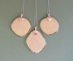 Rose Petal Pendants. Made from rose petals gathered at a funeral service. Pressed Garden. Annie Smith. www.pressedgarden.com