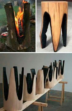 Sillas de troncos