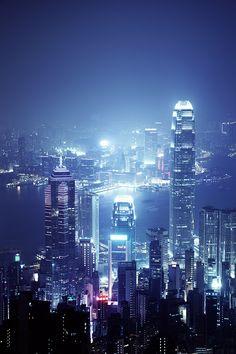 Hong Kong night cityscape