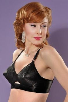 5228516843 What Katie Did black padded bullet bra Classic Lingerie