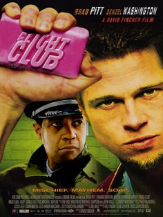 Directed by David Fincher. With Brad Pitt, Edward Norton, Meat Loaf, Zach Grenier. An insomniac office worker and a devil-may-care soapmaker form an underground fight club that evolves into something much, much more. Movies Quotes, Hd Movies, Movies Online, Movie Tv, 2020 Movies, Cult Movies, Edward Norton, Fight Club 1999, Fight Club Rules