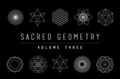 Sacred Geometry Vector Set Vol. 3 comes with 9 NEW completely unique handcrafted design elements!