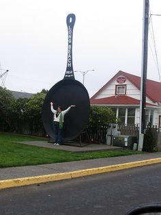 To see the world's largest skillet, ball of yarn, or something along those lines.