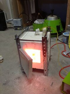Diy electric pottery kiln.