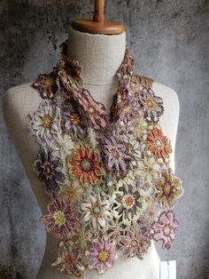 """""""Bohemian Rhapsody"""" Crocheted Scarf @frenchneedle by Sophie Digard"""