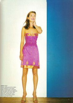 ">>> Kate Moss in anna sui, ""NY"", Photographer: Terry Richardson, Harper's Bazaar, January 1998."