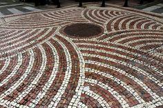 Portuguese- style tiled pavement in St. Lazarus District - Photo taken by BradJill