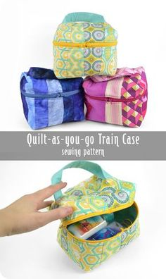 Freebie Friday! Quilt-as-you-go Train Case