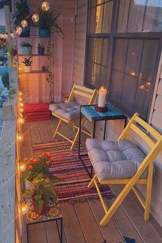 Small Balcony Design, Small Balcony Garden, Small Balcony Decor, Outdoor Balcony, Balcony Ideas, Patio Ideas, Modern Balcony, Outdoor Decor, Outdoor Chairs